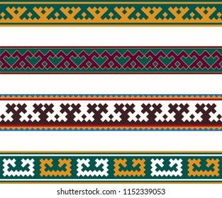 Nenets national ornament. Yamal