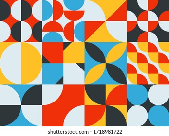 NEO GEO design mural pattern. Geometric shape ornament vector. Modern stylish texture.