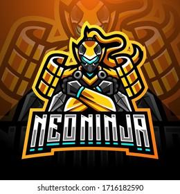 Neo ninja esport mascot logo design
