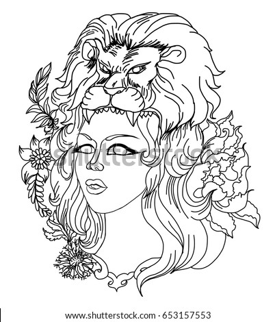Women Tattoo Drawing Outline