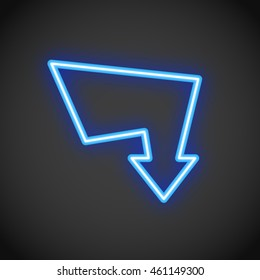 Neon Arrow Sign
