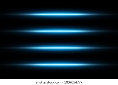 Neon Blue Glowing Lights Line Abstract Wallpaper Background Template. Vector