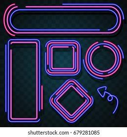 Neon border design