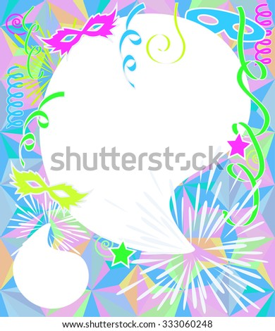 neon color party background carnival vector stock vector royalty