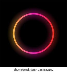 Neon colorful circle. Vector illustration.