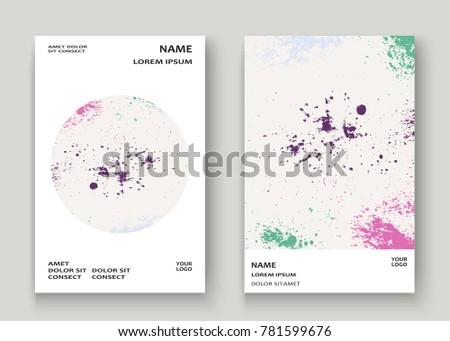 Neon Explosion Paint Splatter Artistic Cover Stock Vector