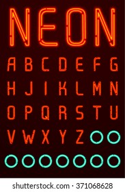 Neon Font, English Alphabet 1/4