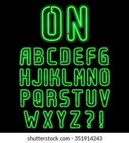 neon font part 1 of 2, Complete Alphabet