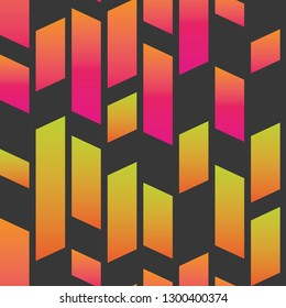 neon glow parallel shapes on anthracite seamless pattern