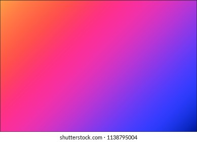 Neon gradient background, very vibrant color shades in raspberry, orange and blue tones. Modern vector wallpaper perfect for banners and web design.