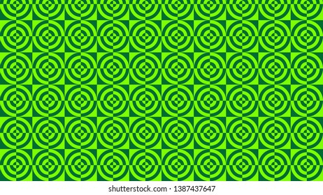 Neon Green Quarter Circles Pattern Background Image