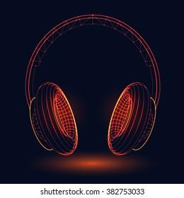 Neon headphones