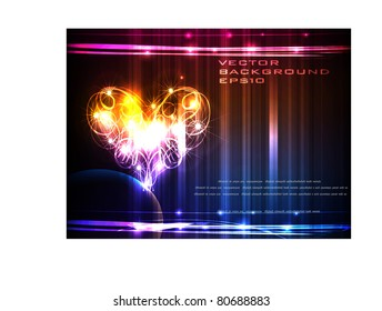 neon heart background