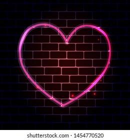 Neon Heart Images, Stock Photos & Vectors   Shutterstock