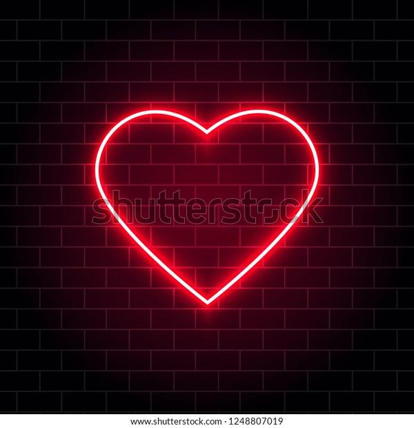 Vector De Stock Libre De Regalías Sobre Neon Corazón