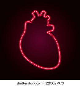 Neon heart. Retro template for store signs, posters, banners, cards for saint Valentine's day.