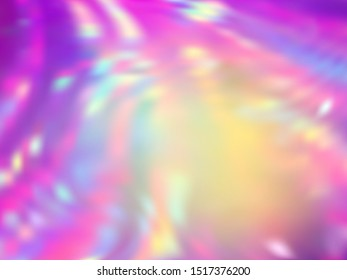 Neon holographic paper fluid gradient backdrop. Mesmerizing iridescent mermaid background. Liquid colors splash background. Stylish blurred splash holographic vector wrapping paper.