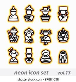 neon icon set(vector, CMYK)
