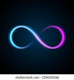 Neon infinity symbol