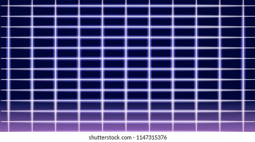 Neon laser grid. Synthwave futuristic background.