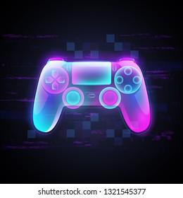 Neon light gamepad