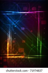 neon lighte frame