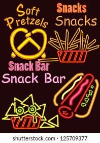 Neon Lights Snack bar 1