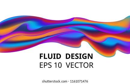 Neon liquid splash colorful . Futuristic fluid paint template. Abstract neon background. eps 10