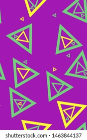 Neon minimal pattern with sacral geometry symbols in modern style. Can be used for fluent design poster, hipster cover, flyer.