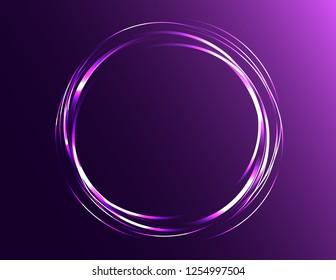 Neon purple decor frame