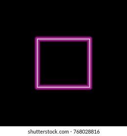 Neon purple square black background. Vector EPS 10