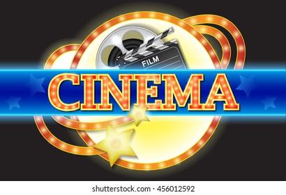Neon sign. Cinema