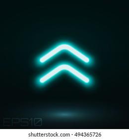 Neon sign direction. Vector illustration.