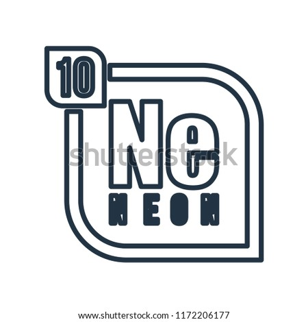 Neon Symbol Periodic Table Isolated On Stock Vector Royalty Free
