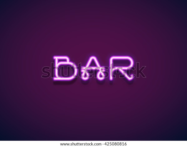 Neon tube hand drawn font. Script type letters on a dark background. Vector typeface for labels, titles, posters etc. Vector Lettering.