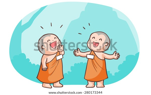 neophyte talk to each other loudly vector illustration