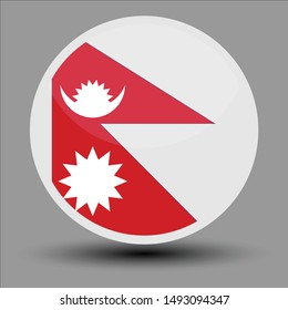Nepal flag in the form of a circle, can be used for independence or other events