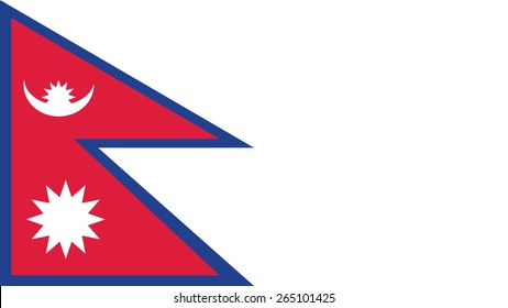 nepal Flag for Independence Day and infographic Vector illustration.