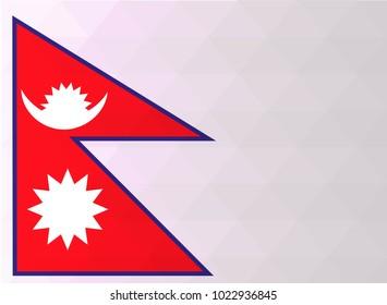 Nepal Flag vector illustration. Nepal Flag. National Flag of Nepal. Mosaic flag. Vector