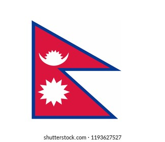 Nepal flag vector,flag, country, vector flags, flag images, all flags, flags