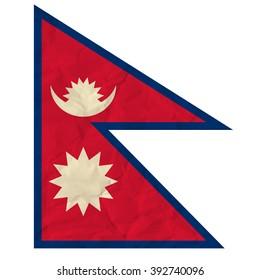 Nepal paper flag