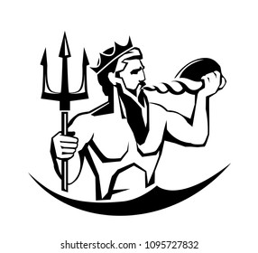 Neptune mythological sea god