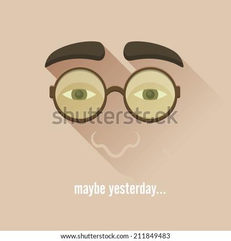 Nerd glasses Vector Illustration