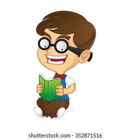 Nerd read book