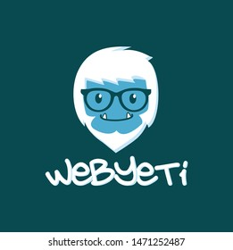 nerd yeti head logo icon design