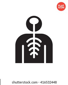 Nervous Icon Flat Style Isolated Vector Illustration