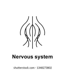 Nervous system, organ icon. Element of human organ icon. Thin line icon for website design and development, app development. Premium icon
