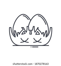 Nest egg icon, linear isolated illustration, thin line vector, web design sign, outline concept symbol with editable stroke on white background.