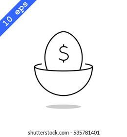 Nest egg icon Vector.