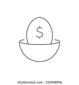 Nest egg icon Vector.